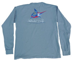 Georgia Pocket Tee - L/S - Granite - Atlantic Drift