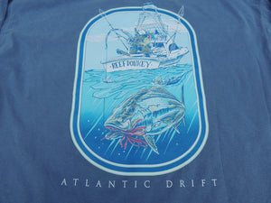 Reef Donkey Tee - L/S - Blue Jean - Atlantic Drift