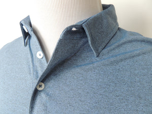 Pawleys Performance Polo Shirt - Heather Blue - Atlantic Drift