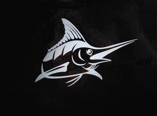Marlin Die Cut Sticker - Available in 3 Colors - Atlantic Drift