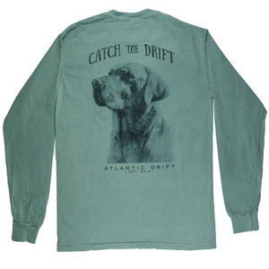 Man's Best Friend Tee - L/S Light Green - Atlantic Drift