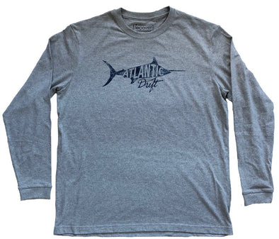 Old Blue Long Sleeve Tee - Classic Gray - Atlantic Drift
