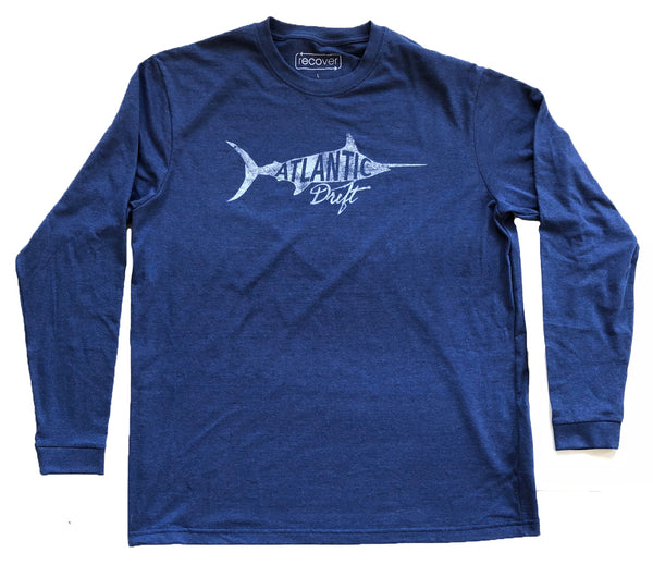 Old Blue Long Sleeve Tee - Navy - Atlantic Drift