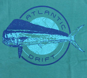 Bull Dolphin Pocket Tee - L/S - Seafoam - Atlantic Drift