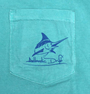 White Marlin Pocket Tee - L/S - Seafoam - Atlantic Drift