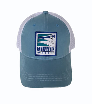 Retro Marlin Patch Mesh Back - Atlantic Drift