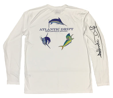 Offshore Performance Shirt - White - Atlantic Drift