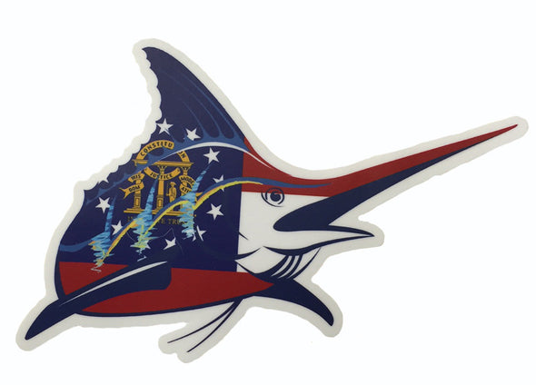 Marlin Logo Sticker - Georgia  Flag - Atlantic Drift
