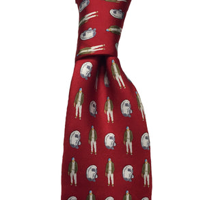Oyster Roast Tuxedo Long Tie - Red - Atlantic Drift