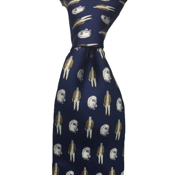 Oyster Roast Tuxedo Long Tie - Navy - Atlantic Drift