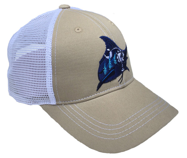 SC Flag Trucker Hat - Khaki/White - Atlantic Drift