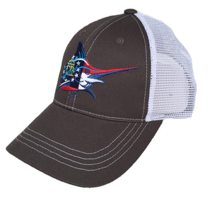 GA Flag Trucker Hat - Graphite/White - Atlantic Drift