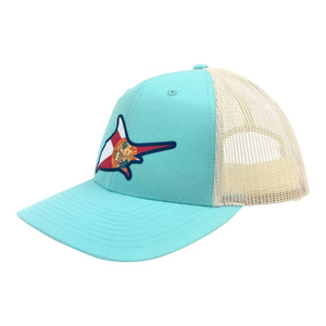 Fl Flag Trucker Hat - Color Splash - Atlantic Drift