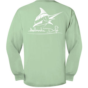 Island Reef Original Logo Pocket Tee L/S - Atlantic Drift