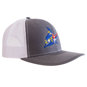 NC Flag Trucker Hat - Graphite/White - Atlantic Drift