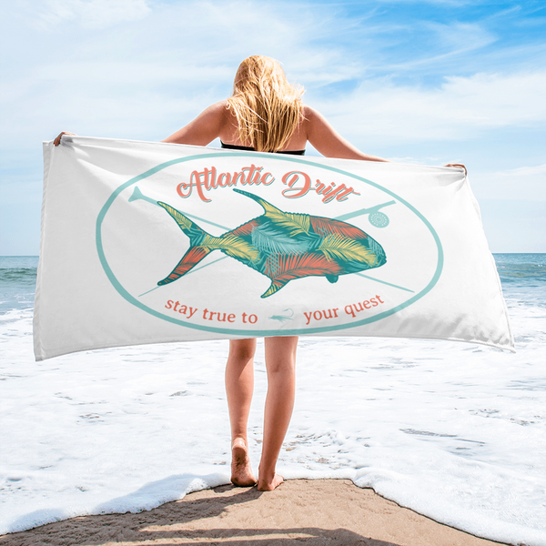 True To Your Quest Beach Towel - Atlantic Drift