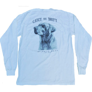 Man's Best Friend Tee - L/S - White - Atlantic Drift