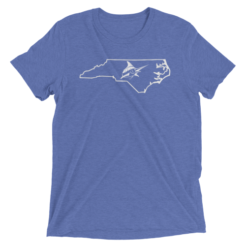 Atlantic Blue NC Vintage Tee - Athletic Fit - Atlantic Drift