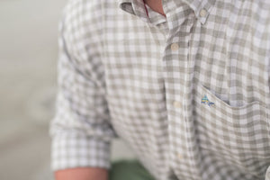 Buxton Button Down - Oyster - Atlantic Drift