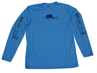 Sailfish Performance Shirt - Columbia Blue - Atlantic Drift