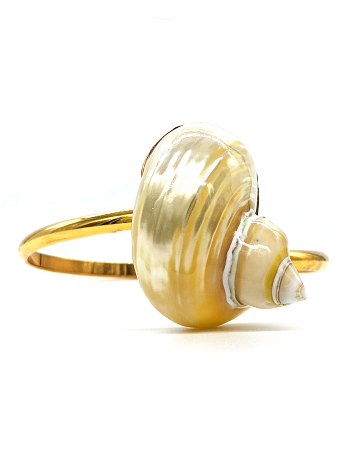 Gold Turban Shell Arm Cuff