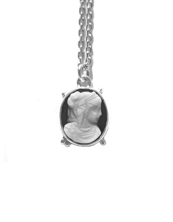 Oval Lady Cameo Necklace
