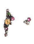 Cascade of Flower Buds Mismatched Earring Set