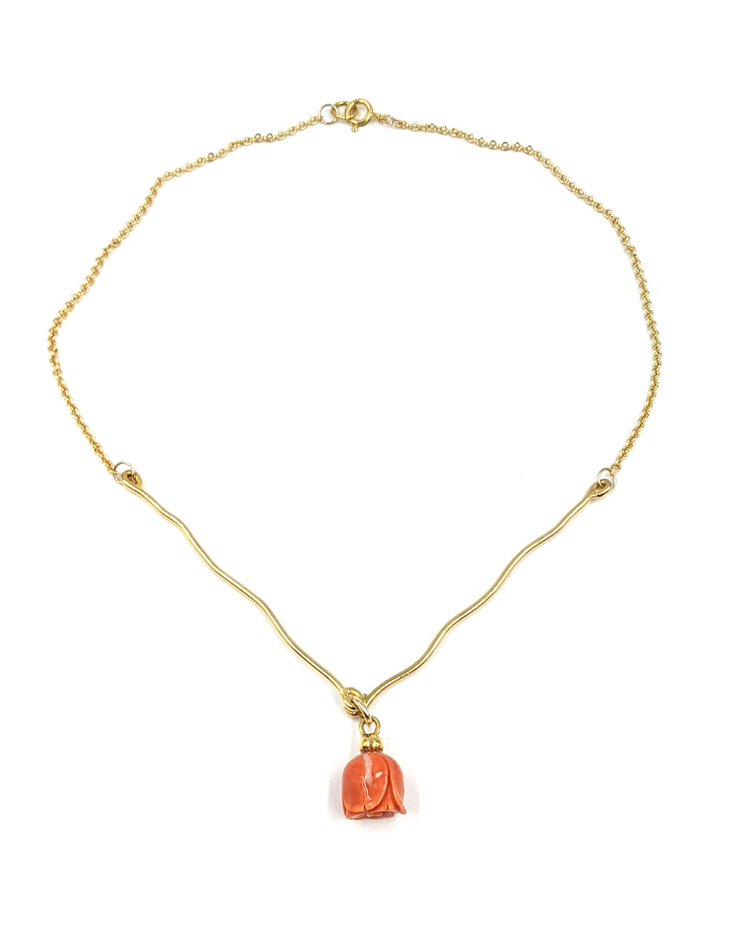 The V Coral Necklace