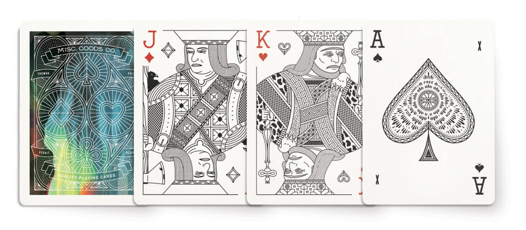 Multi Colored Deck of Playing Cards