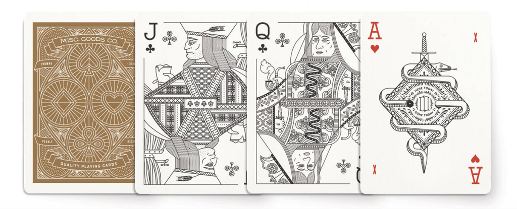 sample playing cards showing front and back of cards