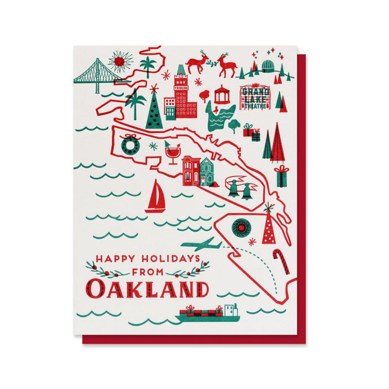 Happy Holidays from Oakland letterpress card set