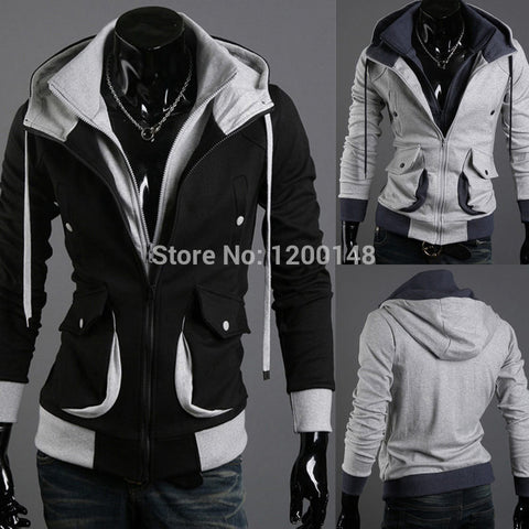 Foreign trade dimensional explosion Slim Hooded cardigan jacket