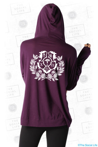ChiO Crest Hooded Pullover