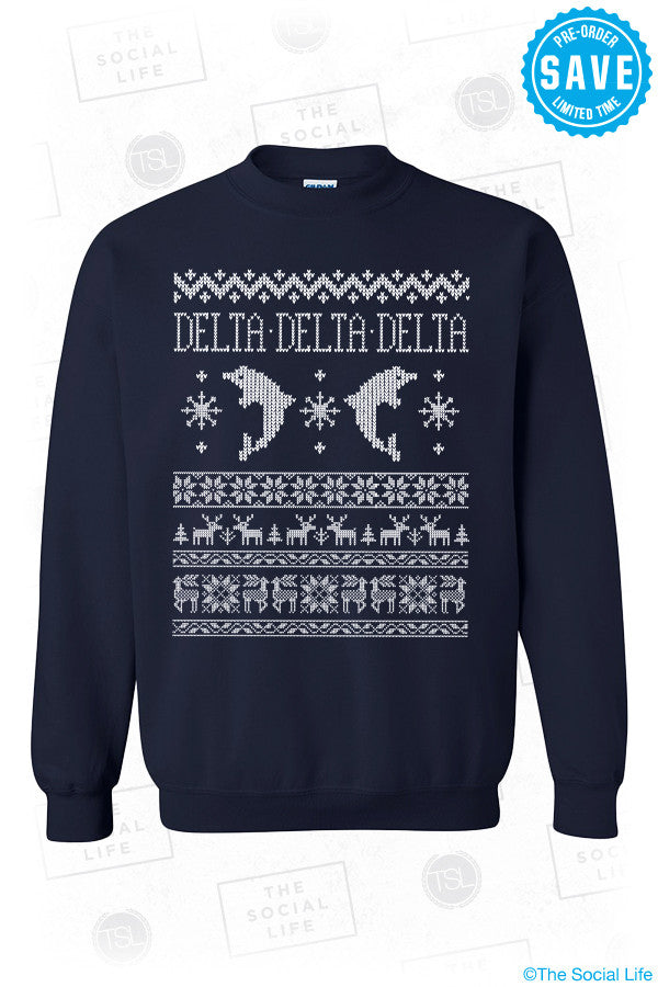 Tri Delta Christmas Sweater