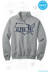 APHI USA 1/4 Zip Sweatshirt