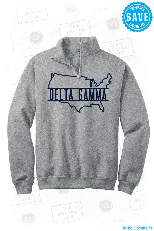 DG USA 1/4 Zip Sweatshirt