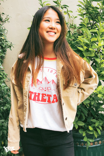 Kappa Alpha Theta Scout Double Ringer Tee