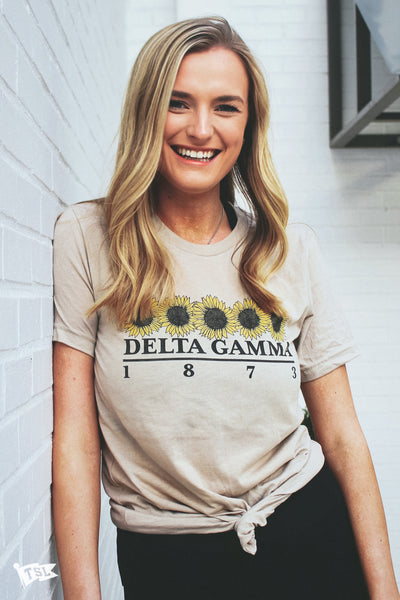 Delta Gamma Sunflower Tee