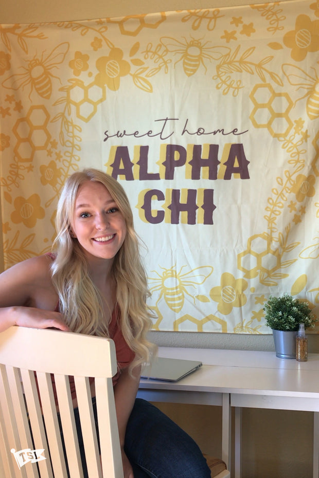 Alpha Chi Omega Sweet Home Tapestry