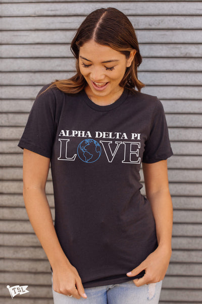 Alpha Delta Pi Love Earth Tee