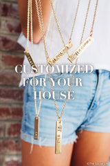 Phi Sigma Sigma Custom Necklace
