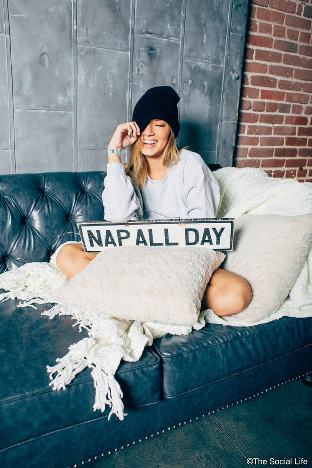 Nap All Day Vintage Sign