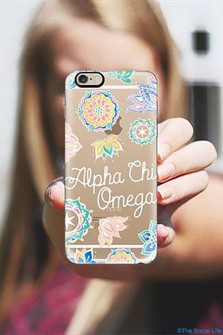 Alpha Chi Omega Custom Snap Case