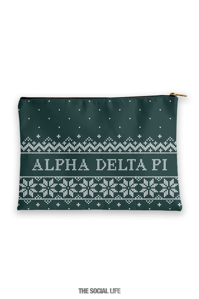Alpha Delta Pi Holiday Cosmetic Bag