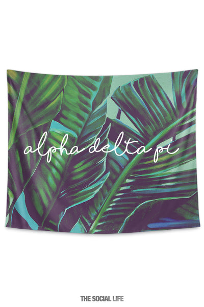 Alpha Delta Pi Painted Palms Tapestry