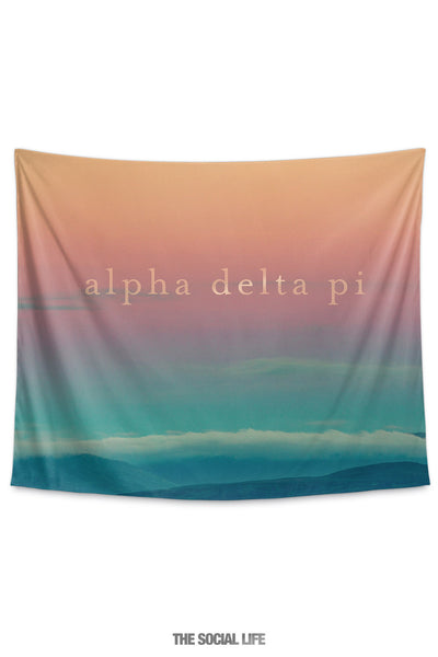 Alpha Delta Pi Sunset Tapestry