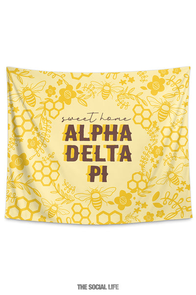 Alpha Delta Pi Sweet Home Tapestry