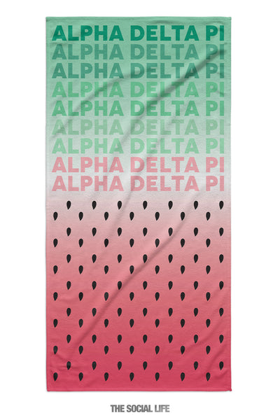 Alpha Delta Pi Watermelon Towel