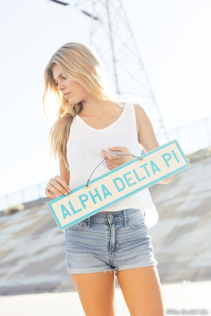 Alpha Delta Pi Vintage Sign