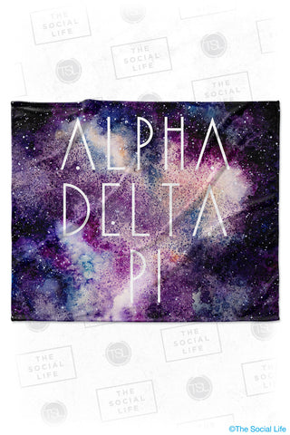 Alpha Delta Pi Galaxy Velvet Plush Blanket